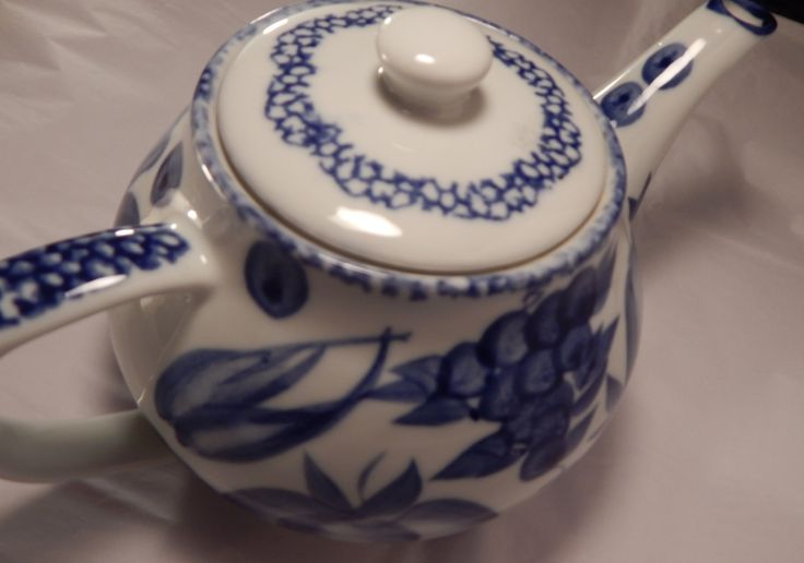 Blue and White Teapot Made by Nantucket Distributing Co. Made in China by EklecticKollections on Etsy