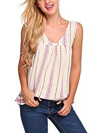 New Zeagoo Women's Floral Tank Top Sleeveless Sexy V Neck Pleated Blouse Shirt online. Find the perfect SUNNYME Tops-Tees from top store. Sku LJLG81852TZWT76865