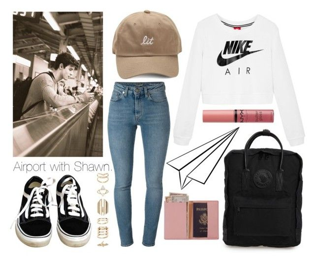 """Airport with Shawn."" by sunfayn on Polyvore featuring moda, Fjällräven, Vans, Yves Saint Laurent, NIKE, Accessorize, NYX e Royce Leather"