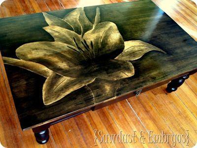 Neat wood staining!
