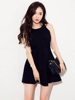 High Level Cotton Sleeveless Ruffle O Neck Korean Wholesale Women Dress