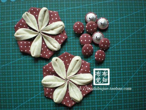 The 26 best fabric folding images on pinterest fabric flowers tutorial origami flowersdiy mightylinksfo