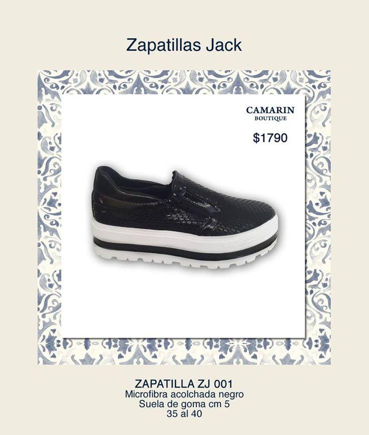 #Zapatillas Jack #Microfibra acolchonada #Negro Suela de goma 5cm  https://www.facebook.com/media/set/?set=a.768323559857766.1073741948.149353421754786&type=3