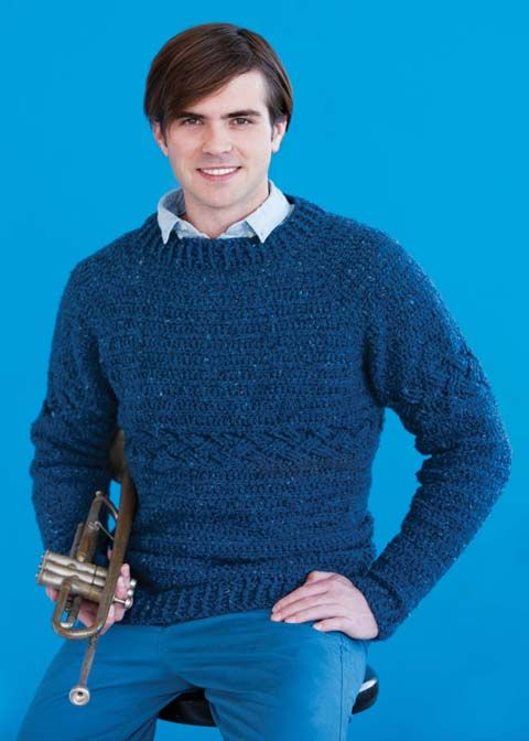 you too can make your dad look as cool as this on fathers day with a little stichy know how 100 Unique #Crochet Sweaters