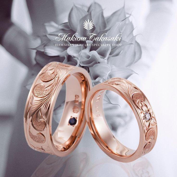 ハワイアンジュエリー リング 結婚指輪 婚約指輪 マリッジリング エンゲージリング エタニティリング ゴールド プラチナ ダイヤ 海 マカナ 記念日 プレゼント リゾートウェディング リゾート婚 サーファー 波 Wedding 高崎 群馬