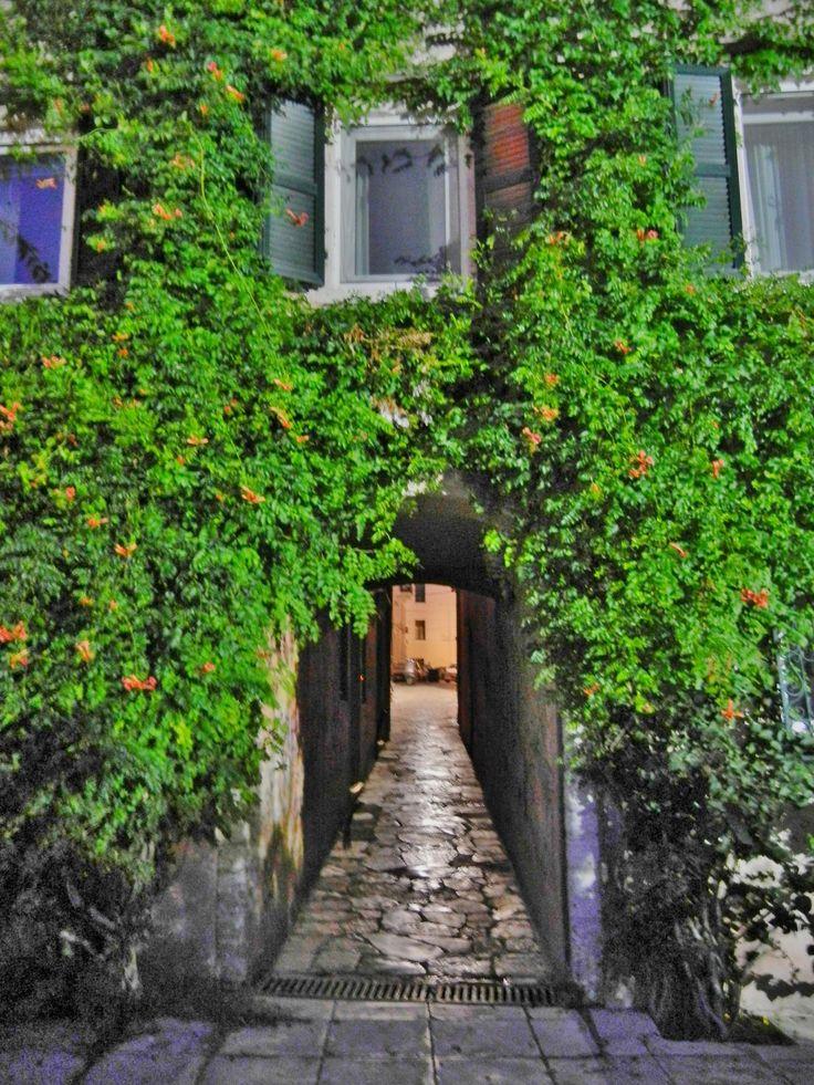 Alleyway in Corfu, Greece