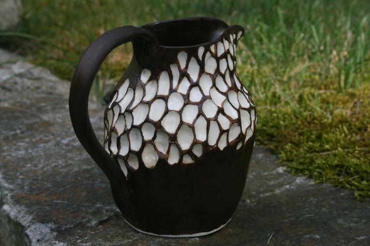 Stoneware Ceramic Pottery Pitcher Creamer, Sauce, Syrup