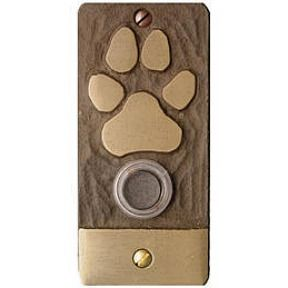 Paw print doorbell! It would be cool if you could place your hand on the paw and it would ring the doorbell!