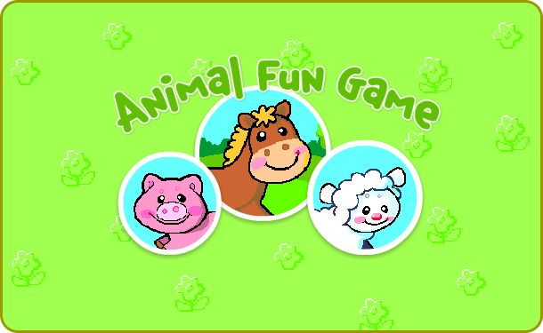 Online farm animal game for toddlers. See the animal, hear what sound it makes, and learn its name.