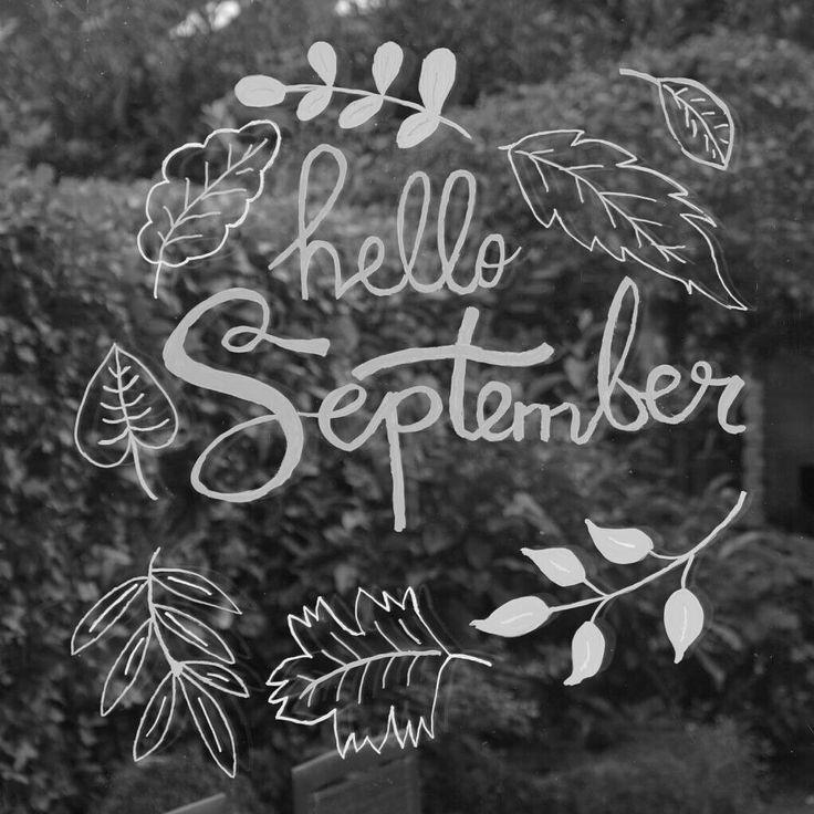 September Herbst Herbst Herbst Kreide Marker Fenster Zeichnung Fensterdekoration Kinder Diy Dekorations Trends Fenster Kunst Kreidemalerei Kreidezeichnungen