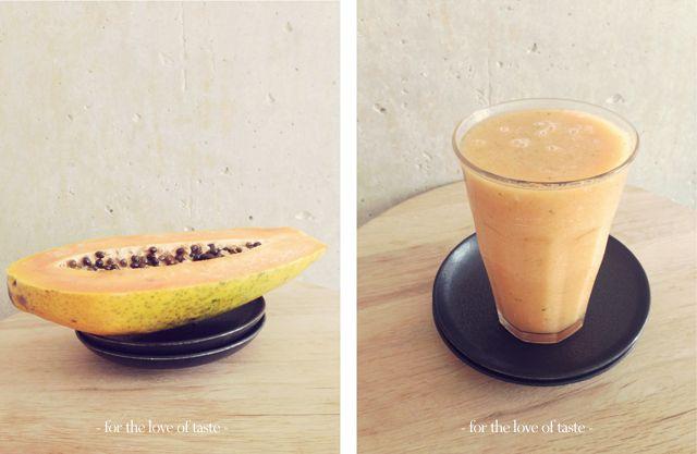papaya lime cool down smoothie