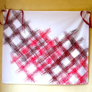 Tartan Print Apron Red, $26, now featured on Fab.