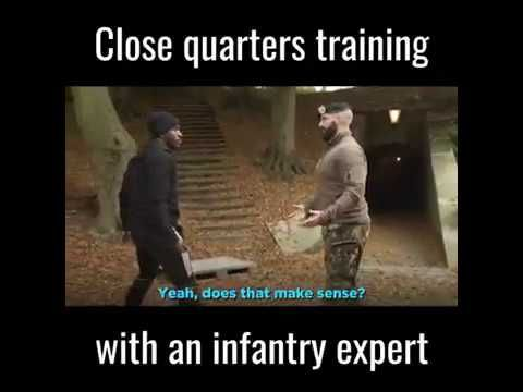 This guy makes disarming someone in close quarters combat look easy! Clo...