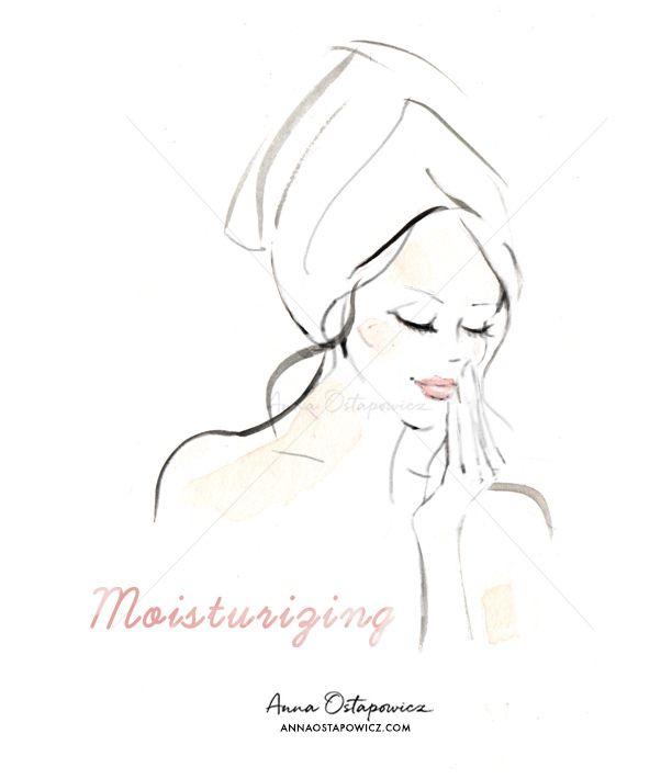 Mosturising, Illustration Anna Ostapowicz, #beauty, #editorialillustration, #cosmetics, #face
