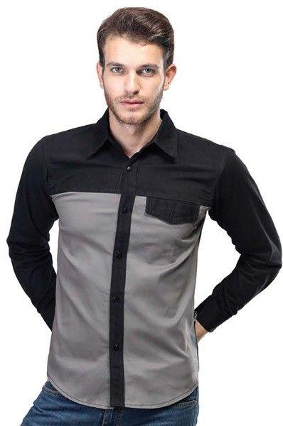 Cotton Shirt Light Grey