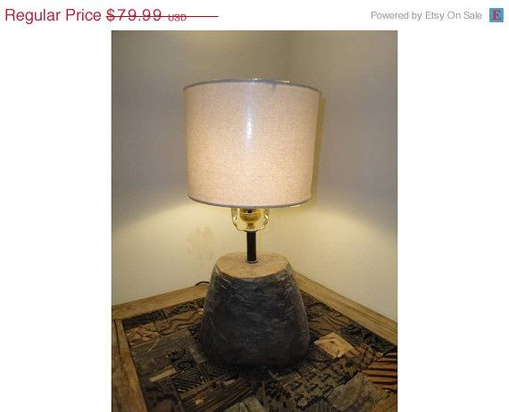 Recycled Handmade Table Lamp in Vintage Decor by MatureSourcing, $68.79