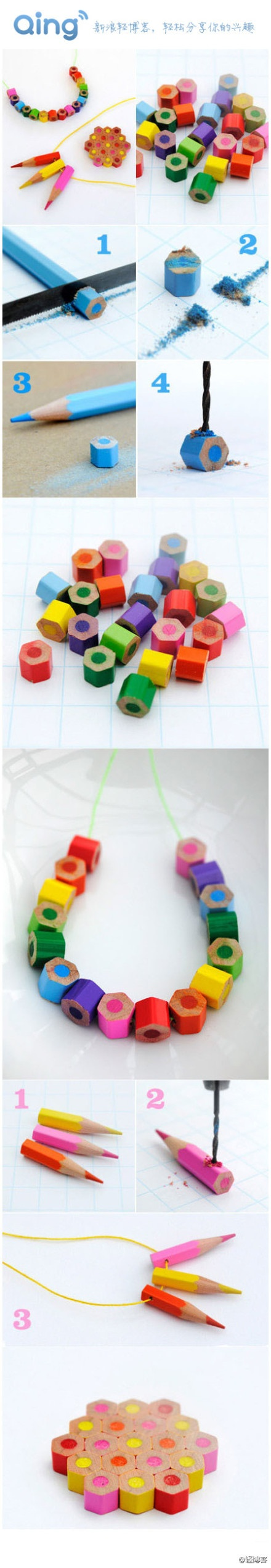 Accessories made from color pencils?