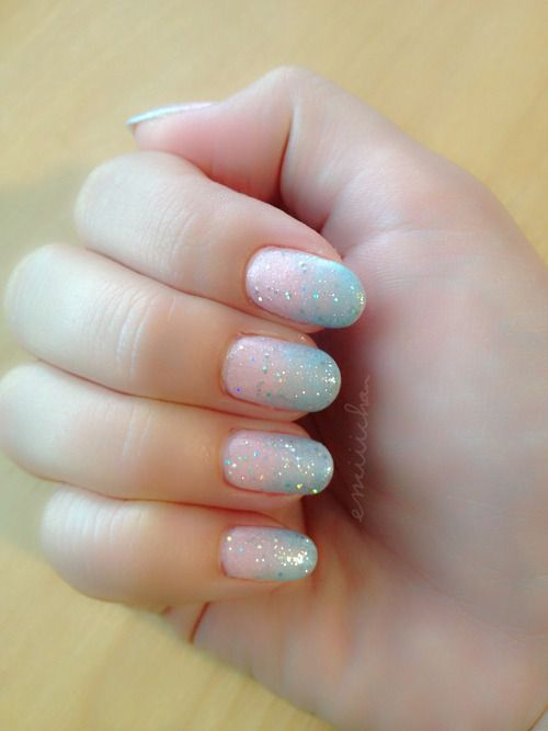 Ombre #nailart is super easy to do! Just paint your color stripes on a foam makeup applicator, smoosh a little to get the colors blending, then press on your nails! Voila!