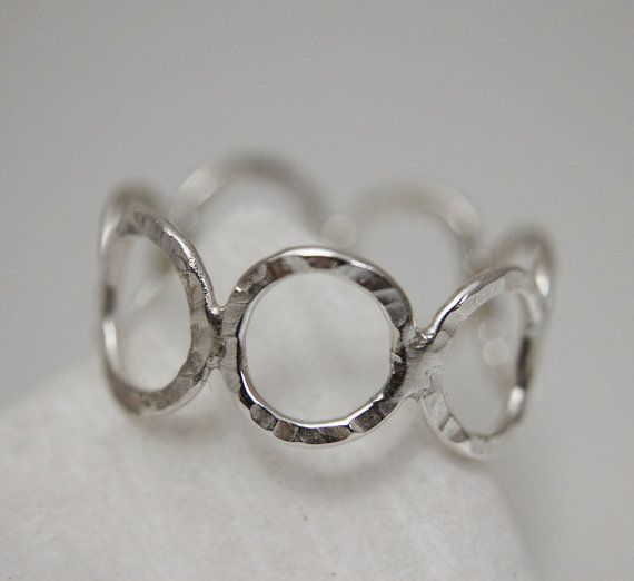 ROUND TWO Silver ring with round wire by mardargent on Etsy, €25.00