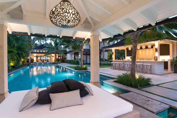 Attention-grabbing is one of the qualities of this Oahu home.