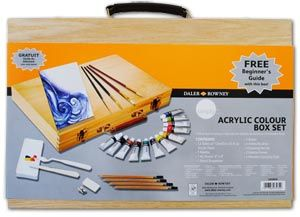 Daler Rowney Simply Acrylic Paint Wooden Box Set