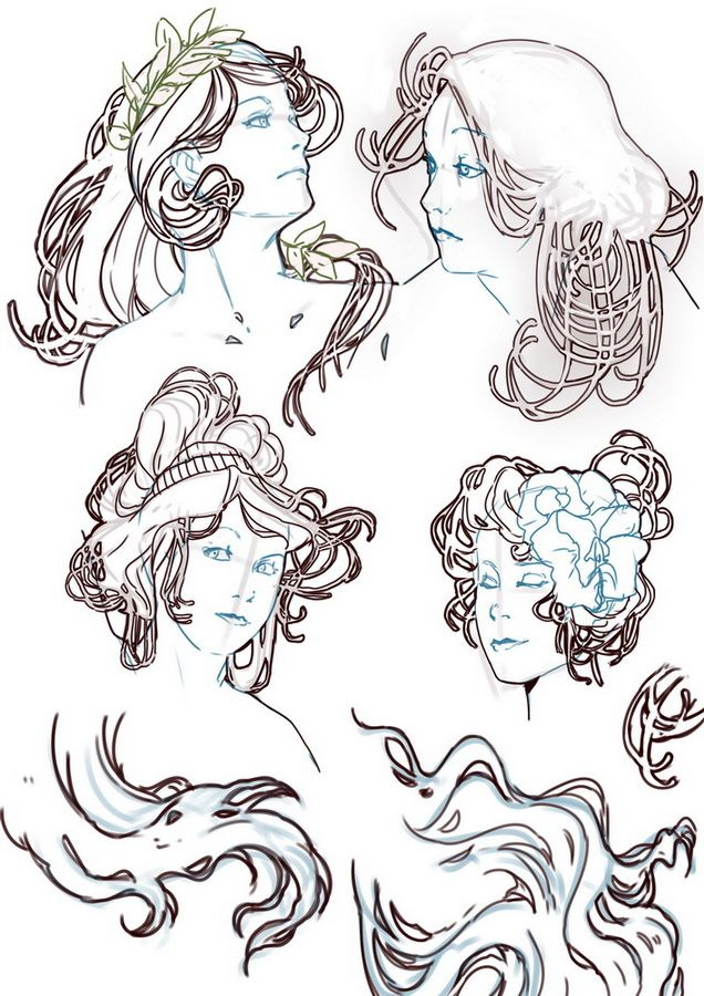 art nouveau doodle by pruzjinka on deviantART