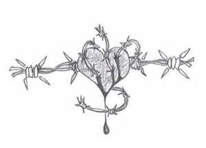 barbed wire heart tattoo - Yahoo Image Search Results
