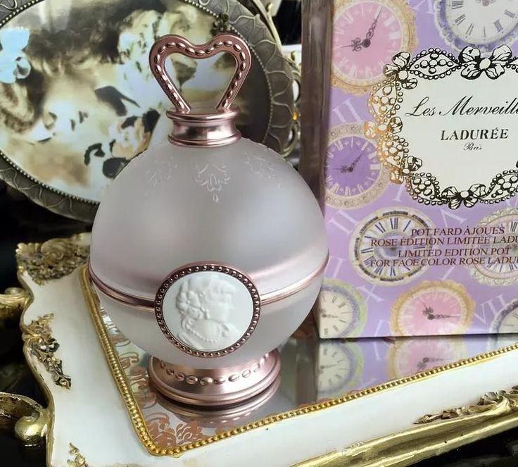 Les Merveilleuses de LADUREE LIMITED EDITION POT FOR FACE COLOR ROSE POWDER BLUS #Unbranded