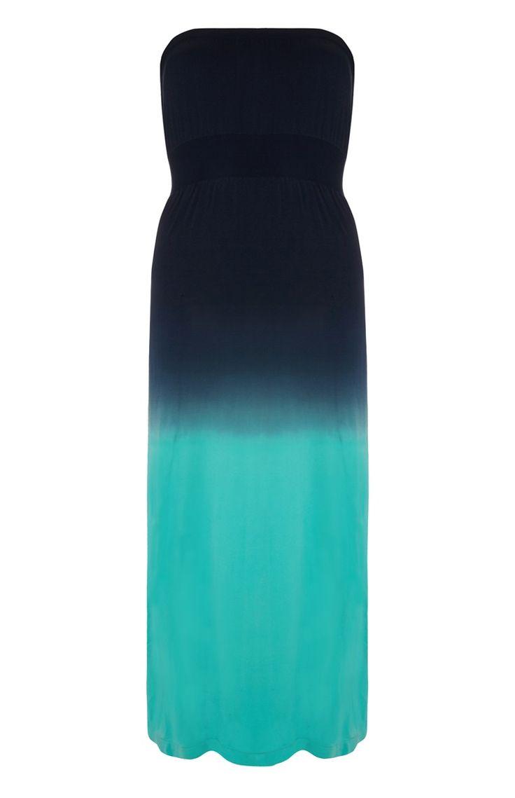 Primark - Blauwe lange jurk met kleurverloop