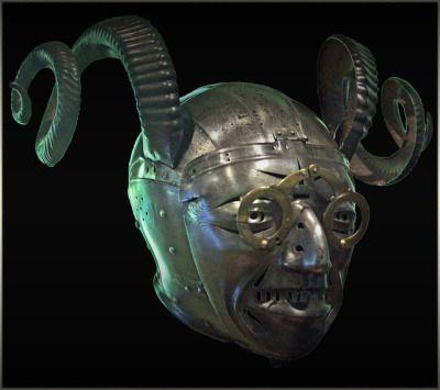 The horned helmet of Henry VIII Royal armouries Leeds 16th century