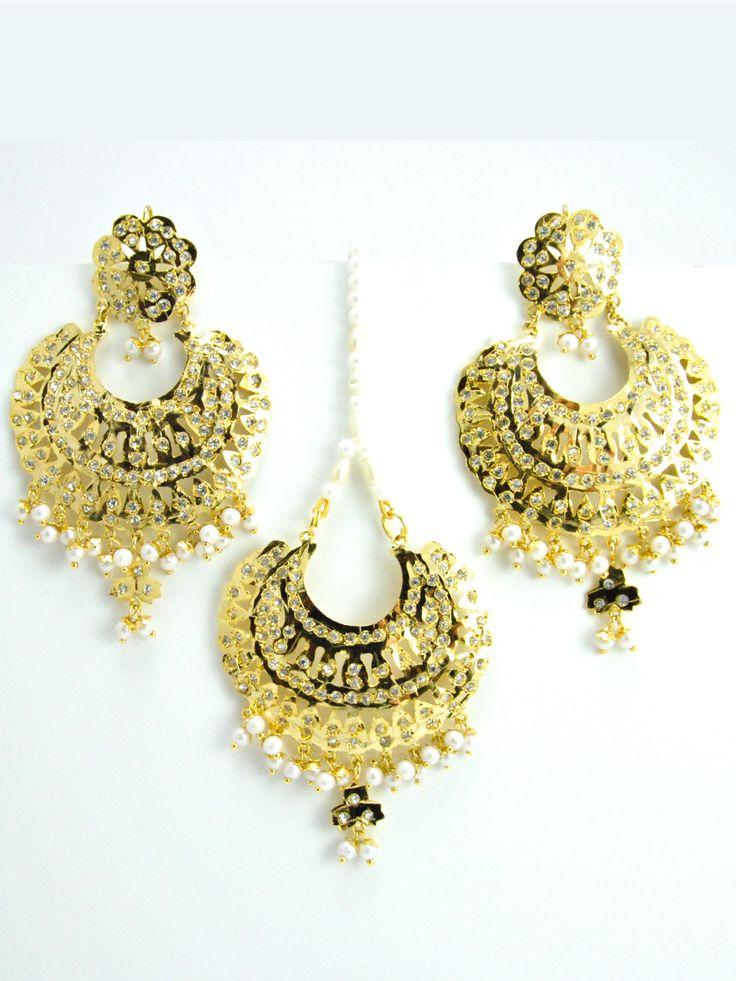 Jadau Earring and Mang Tikka Set