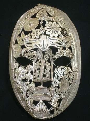 silver filigree mask