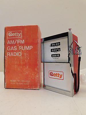 VINTAGE-GETTY-ANTIQUE-AM-FM-AUTOMOBILE-GAS-STATION-NEW-IN-BOX-TRANSISTOR-RADIO