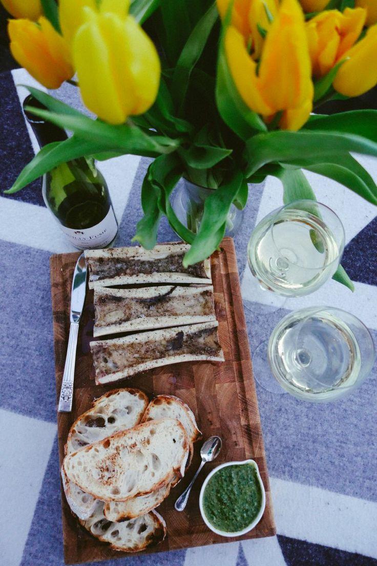 Roasted Bone Marrow & Salsa Verde