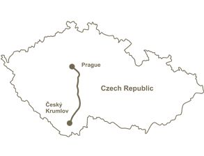 Shuttle bus from Cesky Krumlov to Prague - Let's look at some interesting places in the way from Cesky Krumlov to Prague. First of all, there is very beautiful castle called Hluboká near to Cesky Krumlov.
