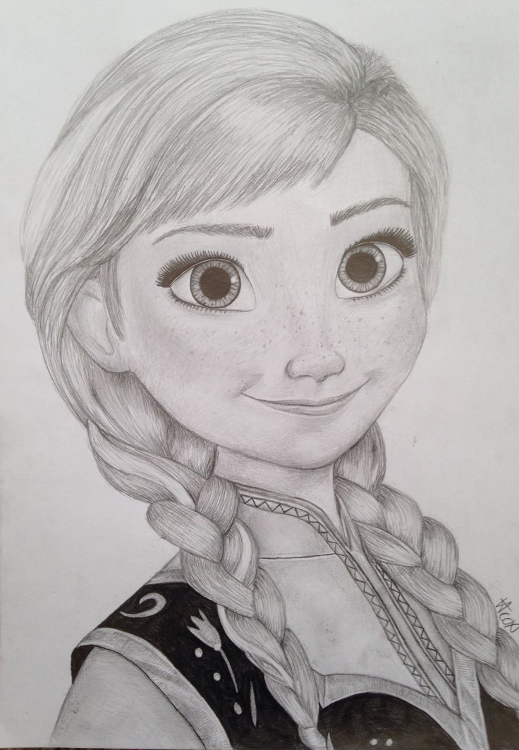 My princess anna drawing from frozen | Art | Pinterest ...
