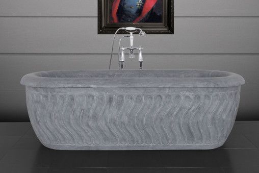 Tivoli Honed Black Marble Bath