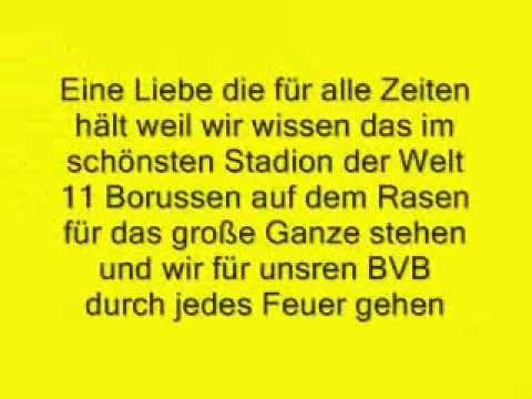 BVB Borussia Dortmund Am Borsigplatz geboren mit Liedtext