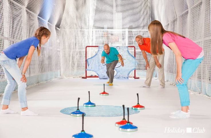 Curling at the Angry Birds Activity Park in Holiday Club Saimaa, Finland