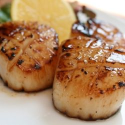 Simple, quick, and delicious bourbon maple scallops. Life is good!