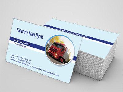 Nakliyat sektörü çalışanları için hazırlanmış özel tasarım kartvizitler