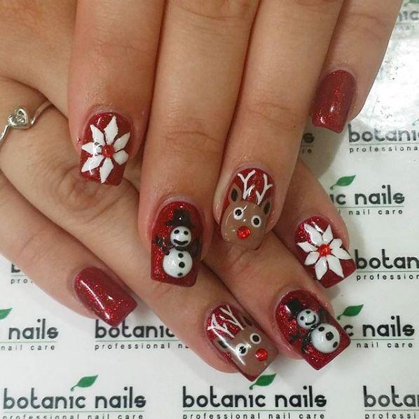 30 Festliche und schlichte Weihnachts-Nail-Art-Designs, die Sie ausprobieren müssen. –