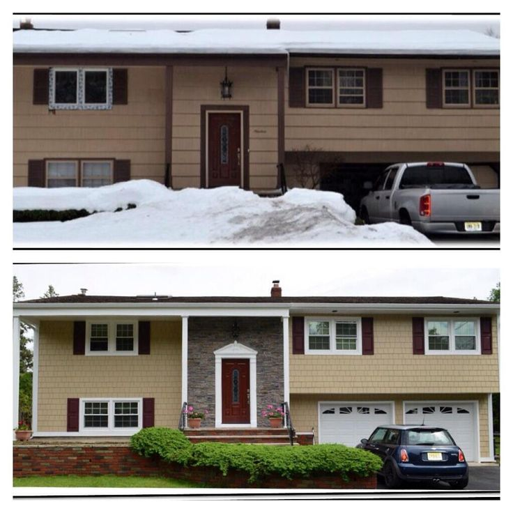 71 best images about james hardie 39 s before after on for New split level homes
