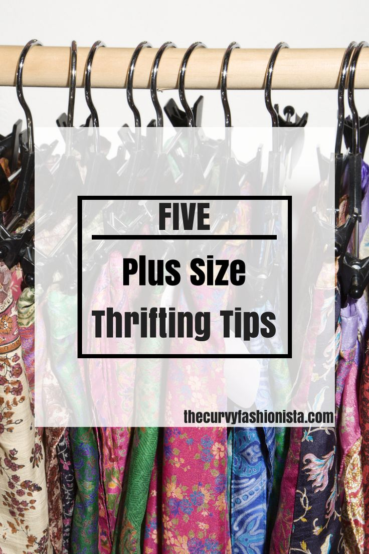 five plus size thrifting tips on The Curvy Fashionista