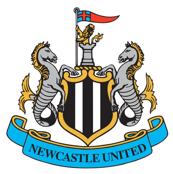 The current Newcastle United logo, incorporating elements of Newcastle city's crest. #NUFC