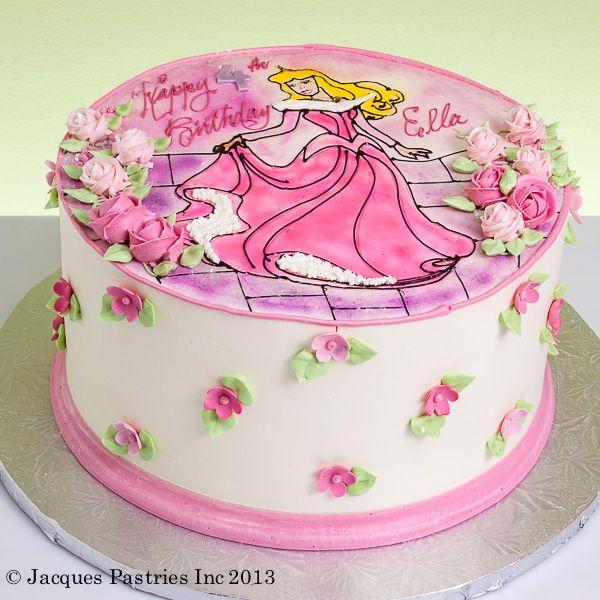 Sleeping Beauty handpainted cake
