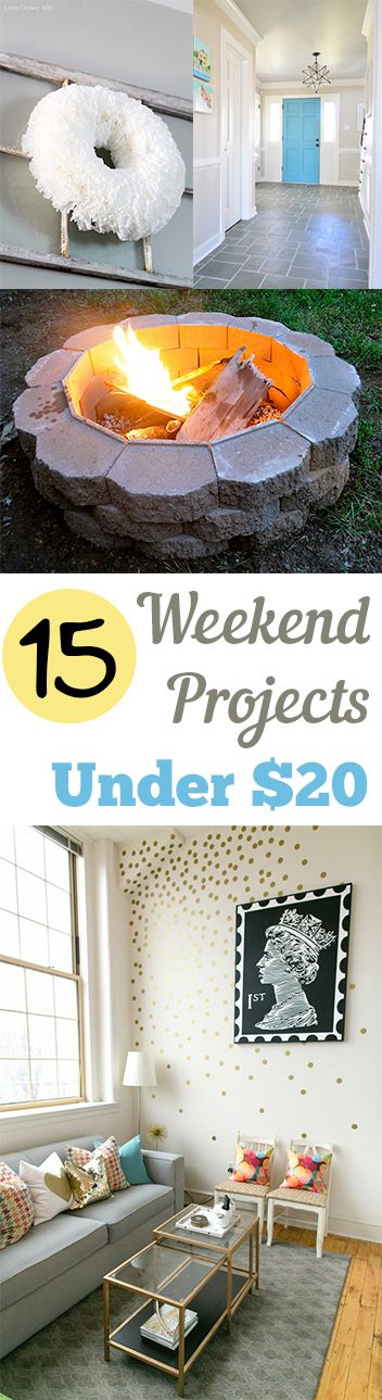 15 Weekend Projects Under $20
