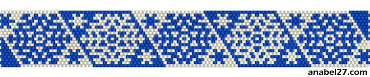 Мозаичное плетение - зимние узоры (снежинки)   - Схемы для бисероплетения / Free bead patterns -
