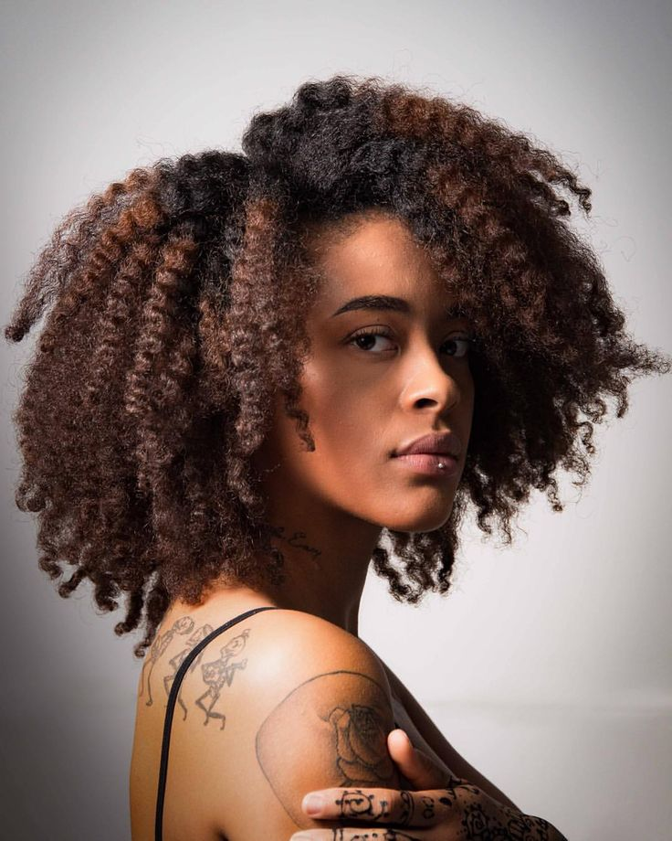 Afro Textured Hair ~ Thebokinni afro hair full of texture shot by