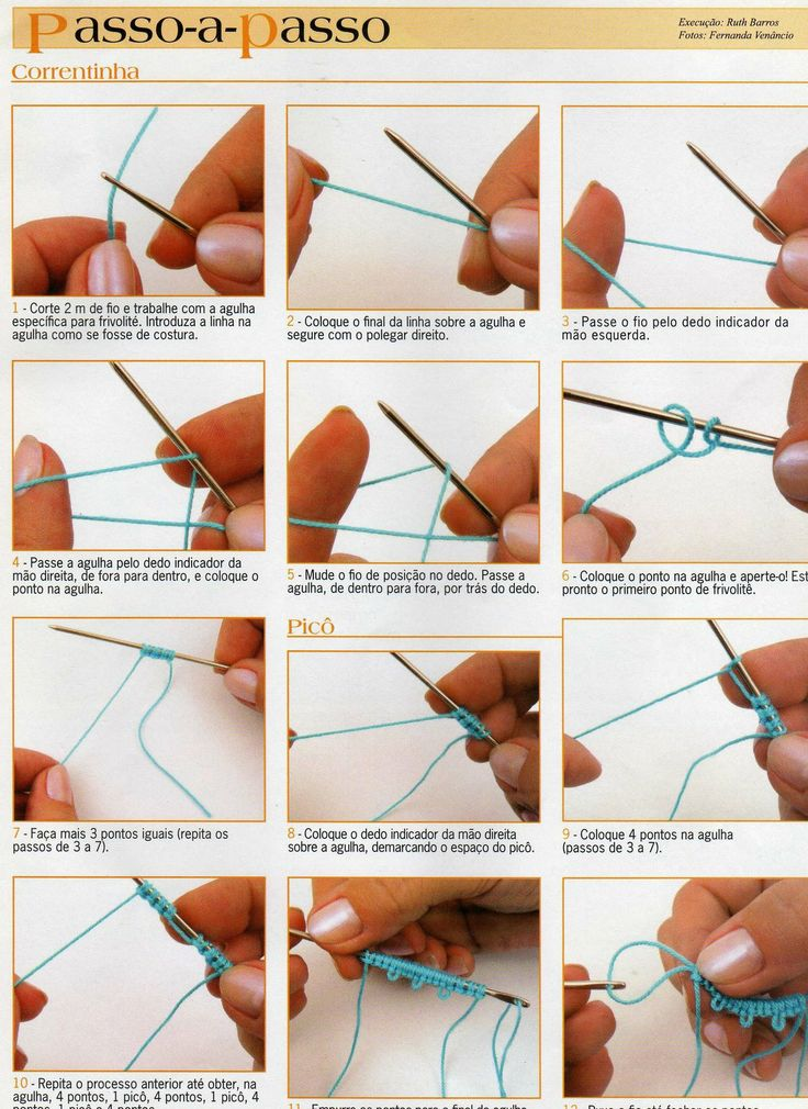 tatting basic tutorial  pap básico frivolité